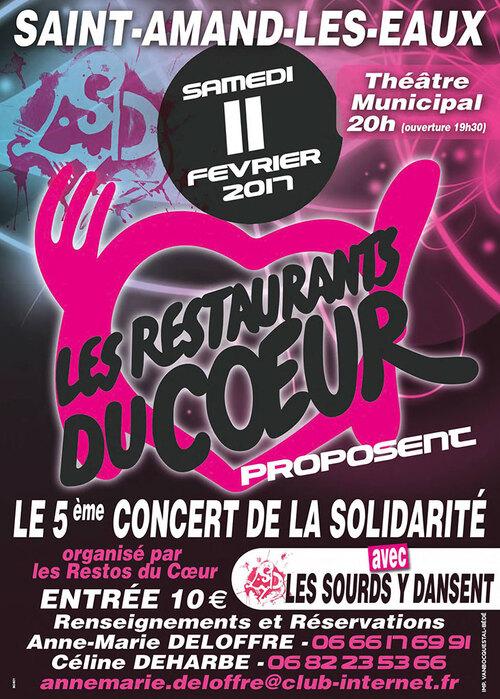 Concert de solidarité Resto du Coeur, à Saint-Amand les Eaux