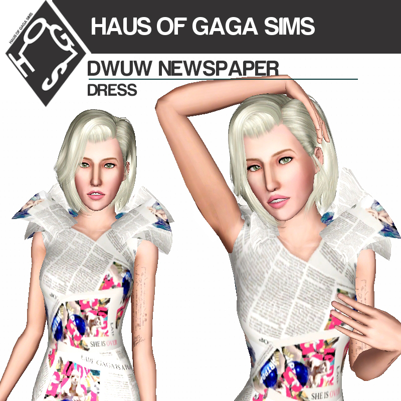 DO WHAT U WANT NEWSPAPER DRESS