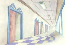 Couloir de l'école primaire de Misora