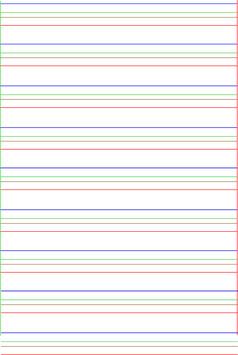 Lignes d'écriture progressives