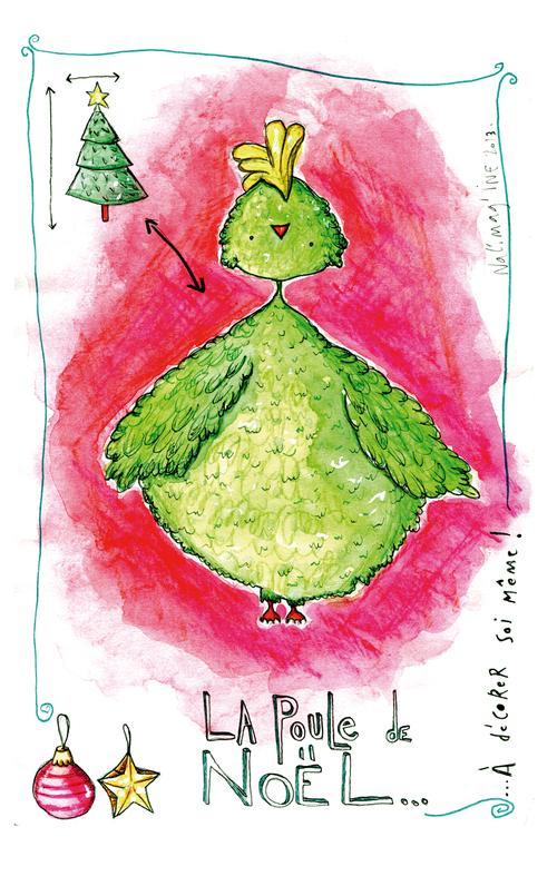 La poule de Noël - à décorer soir même !