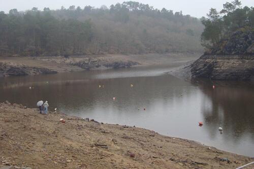 le 15 mars vue sur le lac de Guerlédan