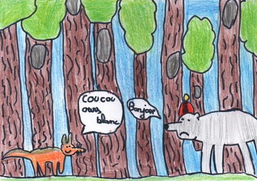 Conte C - Le Père-Noël est un ours blanc qui n'a plus d'argent.
