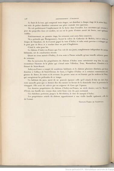 LES REMPARTS D'AUBRY-EN-EXMES (Orne)