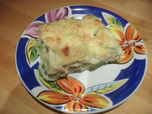 lasagnes courgettes chèvre..parce que j'adore les lasagnes^^