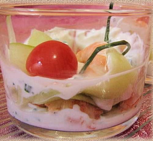 Recette de cuisine : Petite verrine fraîcheur