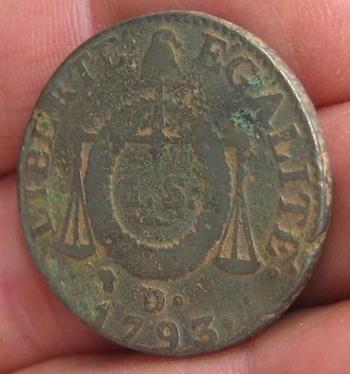 Monnaie 1 sol 1793 balance
