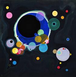 Découverte d'une repoduction d'un tableau de l'artiste Vassili Kandinsky