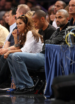 Photo Eva Longoria, Tony Parker, Thierry Henry à New york