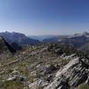 Panorama depuis le sommet du pic Crabère (2590 m), du Gabiet au Garmo Negro