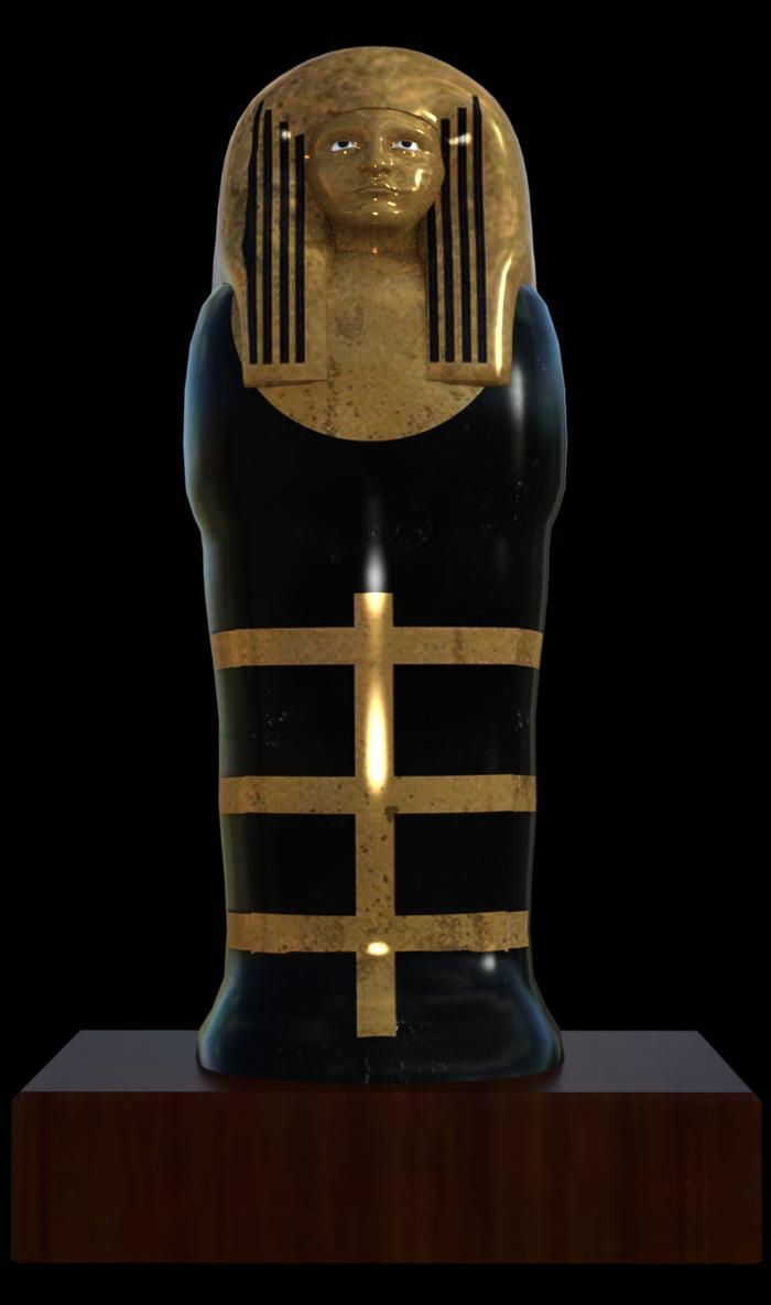Tube de sarcophage Egyptien (render-image)