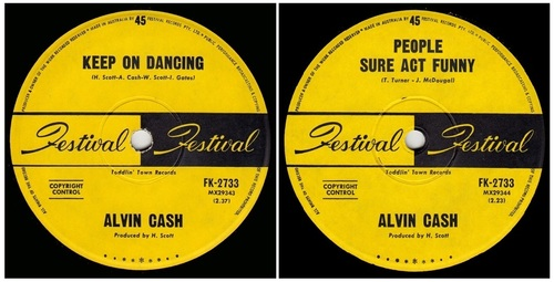 ALVIN CASH - Single Australien FESTIVAL Records