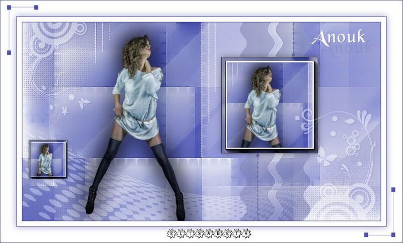 Ma réalisation du tuto Anouk de Violette graphic