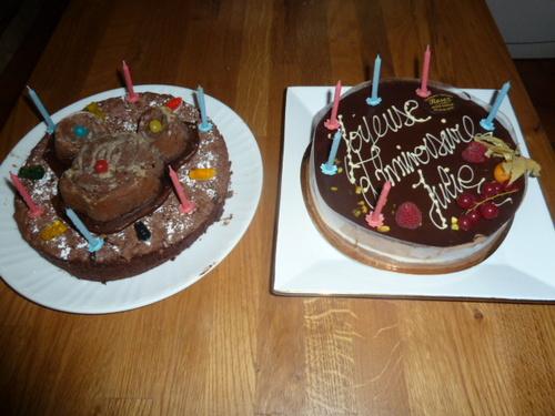 les gâteaux d'anniversaire !