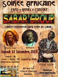★ Concert Sabar'Group + Repas [12 Décembre 2015]