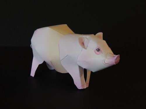 Bulledog français et le cochon