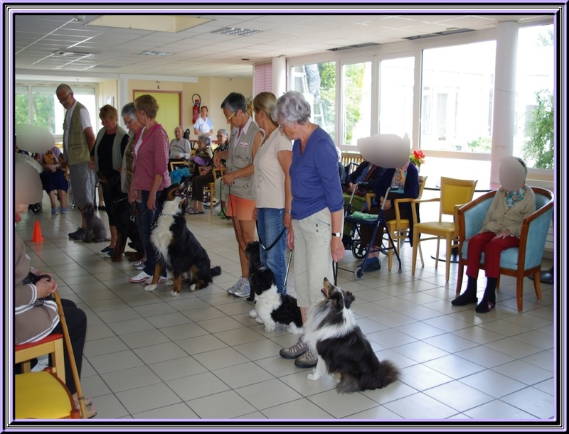 Animation à la maison de retraite de St Georges d'Oléron le 05 juin 2012