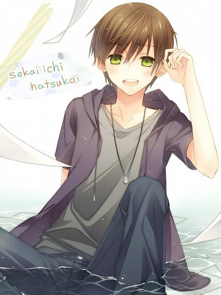 Image de sekai ichi hatsukoi, anime, and yaoi