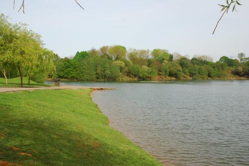 Le petit lac de l'aire de service