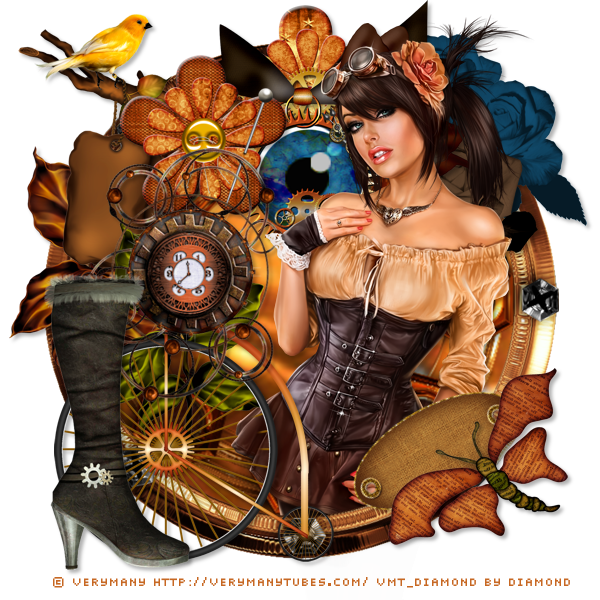 "Tutoriel ""PTU VERYMANY ""STEAMPUNK GIRL"""