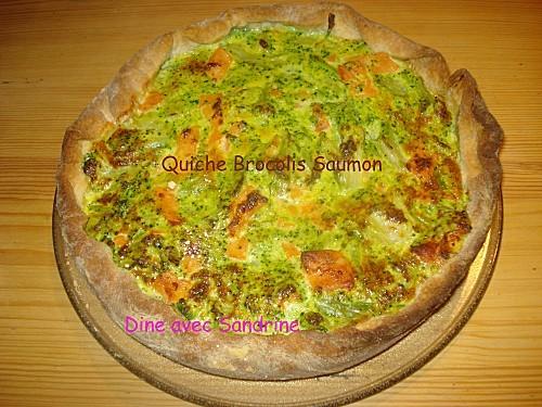 Quiche Brocolis Saumon 7