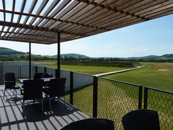 Muséo parc Alésia - la terrasse