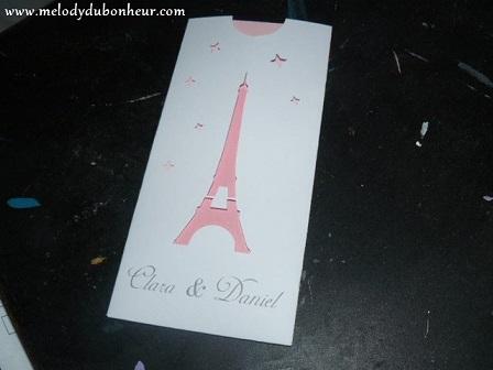 Faire part thème Paris