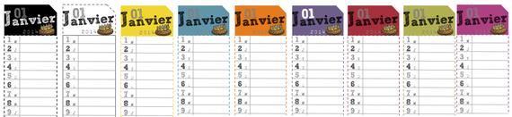 Calendrier perpétuel ou non : outils pour la classe. Version française et anglaise