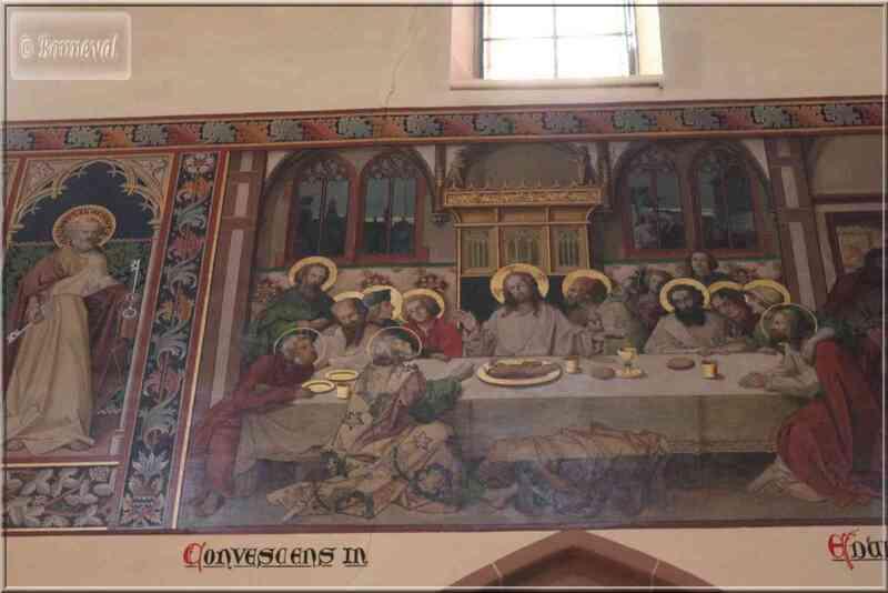 Alsace Route des Vins Saint-Hippolyte fresque de la Cène dans l'église