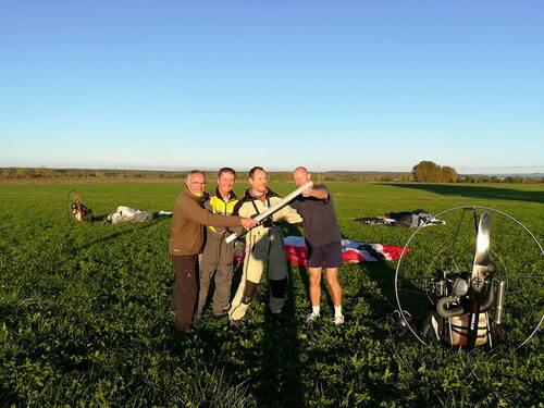 Tour de France de paramoteur en relais