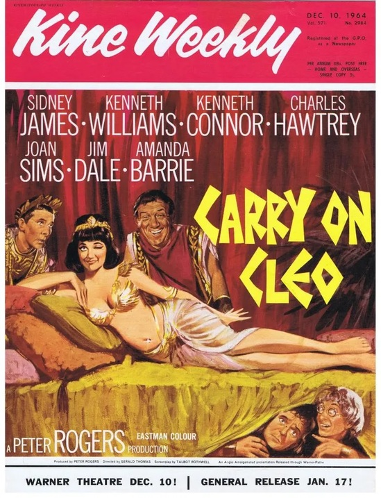 CARRY ON CLEO BOX OFFICE USA 1965