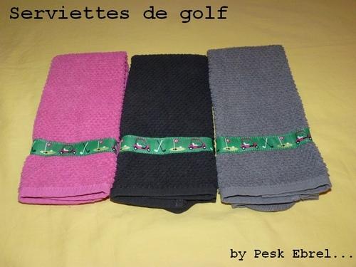 Noël #1 : serviettes de golf
