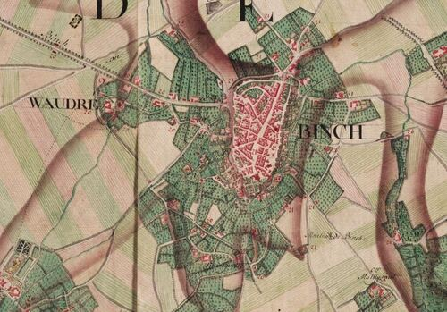 Binche (Carte Ferraris, 1777)(kbr.be)