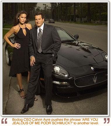 Calvin Ayre femme et auto