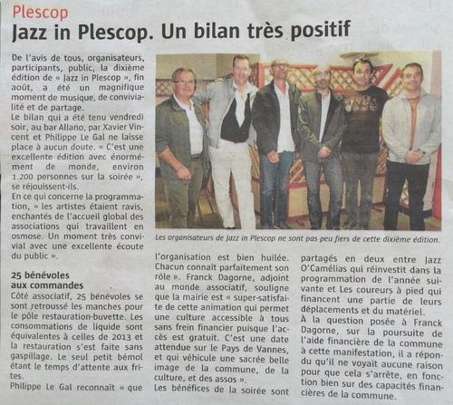 Jazz in Plescop 2014