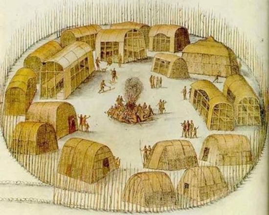 Houses of the Powhatan Indians
