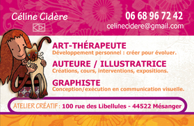 Carte de contact Céline Cidère
