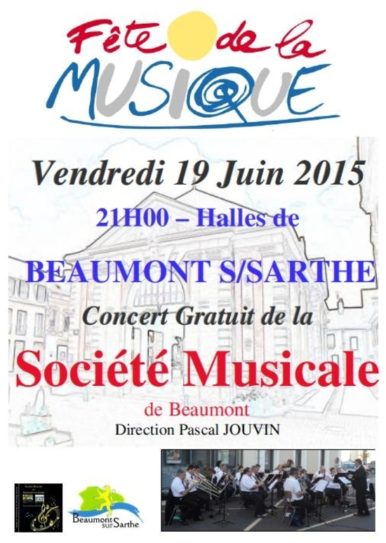 Affiche concert fete musique 2015