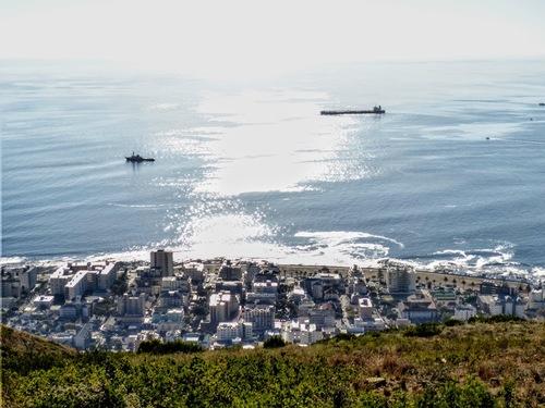 le quartier du port du Cap depuis les hauteurs