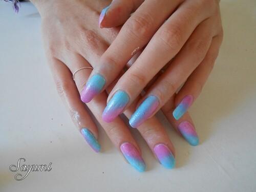 Nail Art Gradient aléatoire Helado