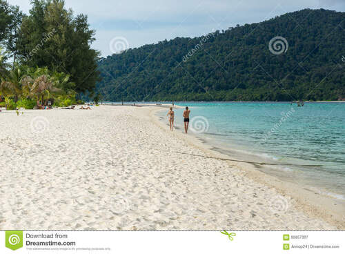 THAILANDE - Walking Koh Lipe beach and town, Satun  (Voyages)
