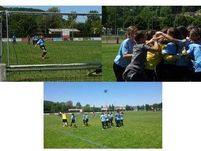 Championnat de France : La section foot féminine du collège sur le Podium