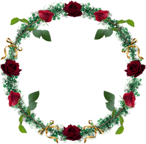 Tube couronne de roses