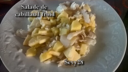 Salade de cabillaud froid (Thermomix)