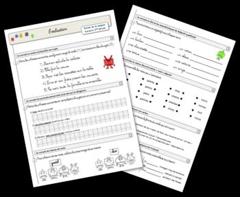Etude de la langue - Evaluation 2ème période