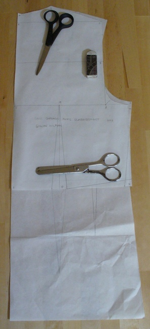 Dos base corsage avec élargissement esmod & holman