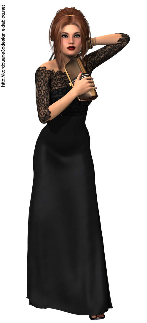 Tube de femme en robe de soirée (render-image)