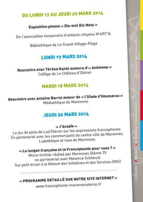 Marennes Oléron parle Francophonie (3)