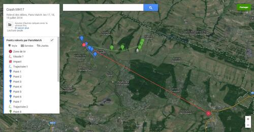 Balistique du crash du vol MH17
