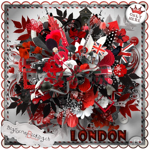 "Mega collab ""London"" exclu Digiscrapbooking"
